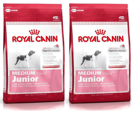 2 x 15kg - Royal Canin Multi-Buy Medium Breed Dry Puppy (Junior Dog) Food