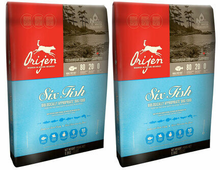 2 x 13kg Orijen Six Fish Adult Dry Dog Food Multibuy
