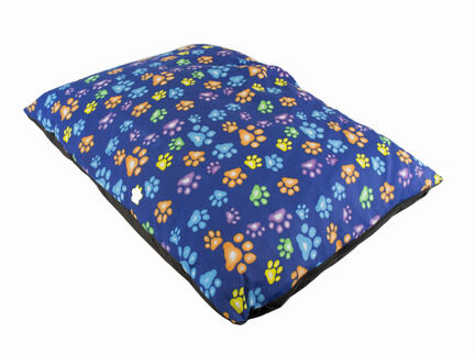 The Pet Express Blue Coloured Paws Luxury Dog Duvet