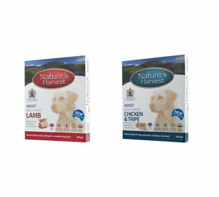 10 x 395g Adult Chicken & 10 x 395g Adult Lamb - Nature's Harvest Wet Dog Food