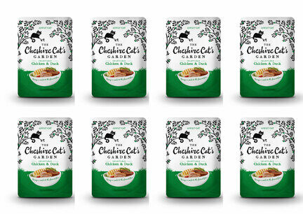 8 x 85g Cheshire Cat's Garden Chicken and Duck Pouches