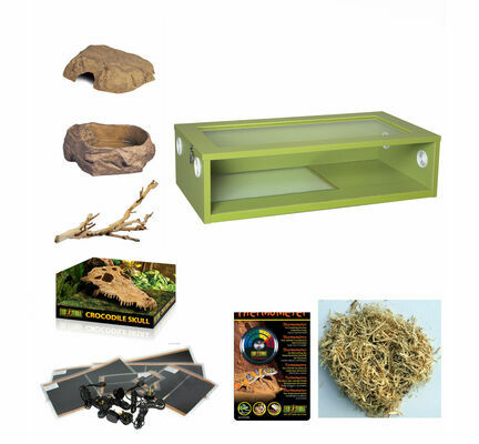 Monkfield Vivarium Corn Snake Starter Kit - Green 30 Inch