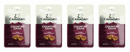 4 x 150g Canagan Country Game Biscuit Bakes Dog Treats