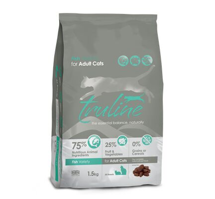 Truline Fish Variety Dry Cat Food 1.5kg