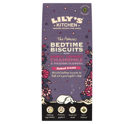 12 x 100g Lily's Kitchen 'The Famous Bedtime Biscuits' Dog Treats