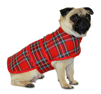 Cosipet Traditional Red Tartan Dog Coat