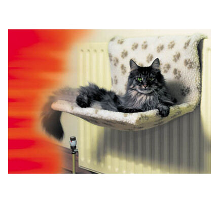 Danish Design Sherpa Fleece Kumfy Kradle Cat Radiator Bed