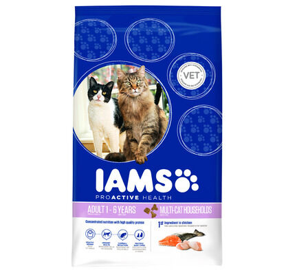 Iams Multi Cat Chicken and Salmon Cat Food
