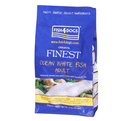 Fish4dogs Finest Complete Ocean White Fish Regular Bite Adult Dog Food