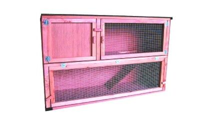 External Double Decker Hutch With Ramp