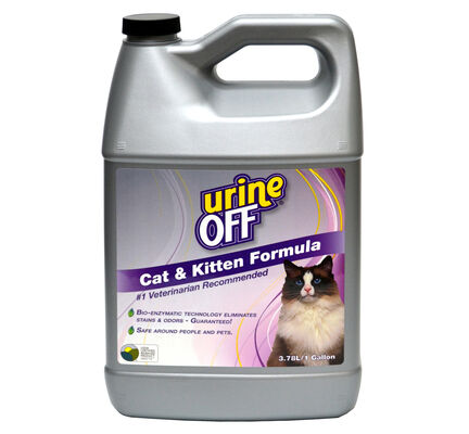 Urine-Off Cat & Kitten Urine Stain Remover & Odour Eliminator - 3.78ltr