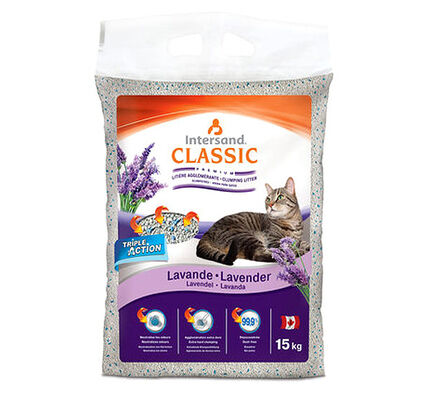 Intersand City Classic Lavender Clumping Cat Litter - 15kg