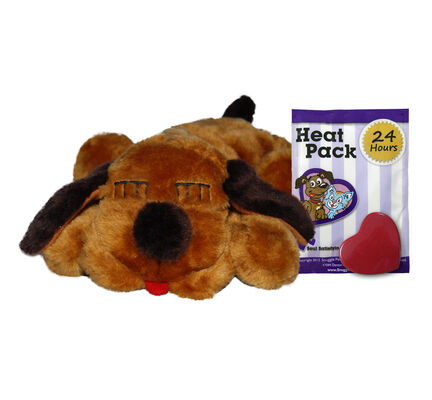 Brown Mutt Snuggle Puppy Calming Dog Toy With Real Heartbeat