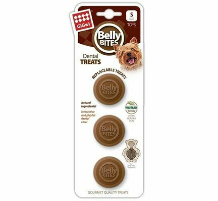 GiGwi Belly Bites Dental Treats Refill Small Size (3 Pack)