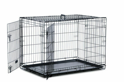 Two Door Dog Crate (91cm x 58cm x 64cm)