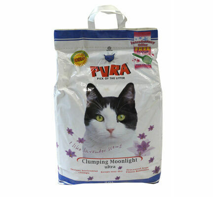 Pura Clumping Moonlight Ultra Lavender Scented Cat Litter - 20L