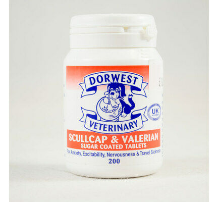 Dorwest Veterinary Scullcap & Valerian Anti-Anxiety Tablets