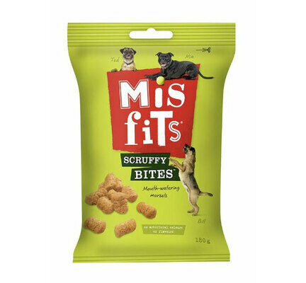 Misfits Scruffy Bites Mouth-Watering Morsels Dog Treats